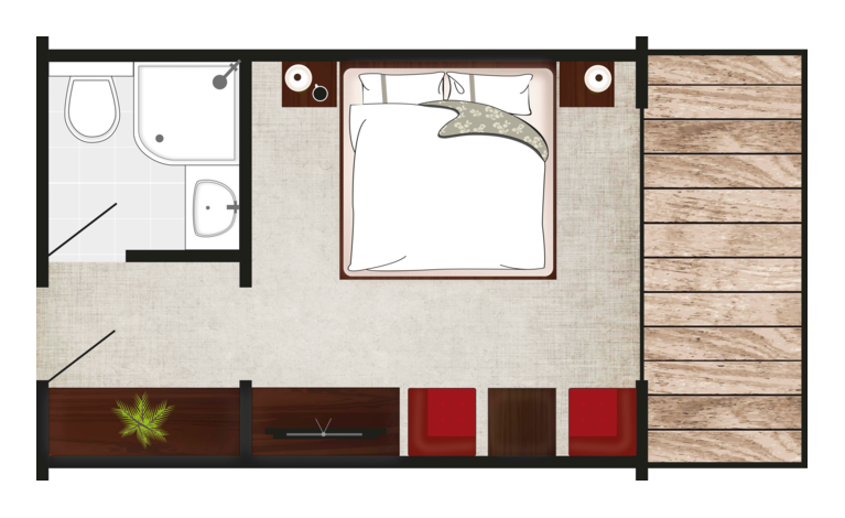 double room serlesblick layout
