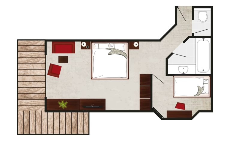 family suite familienglück layout