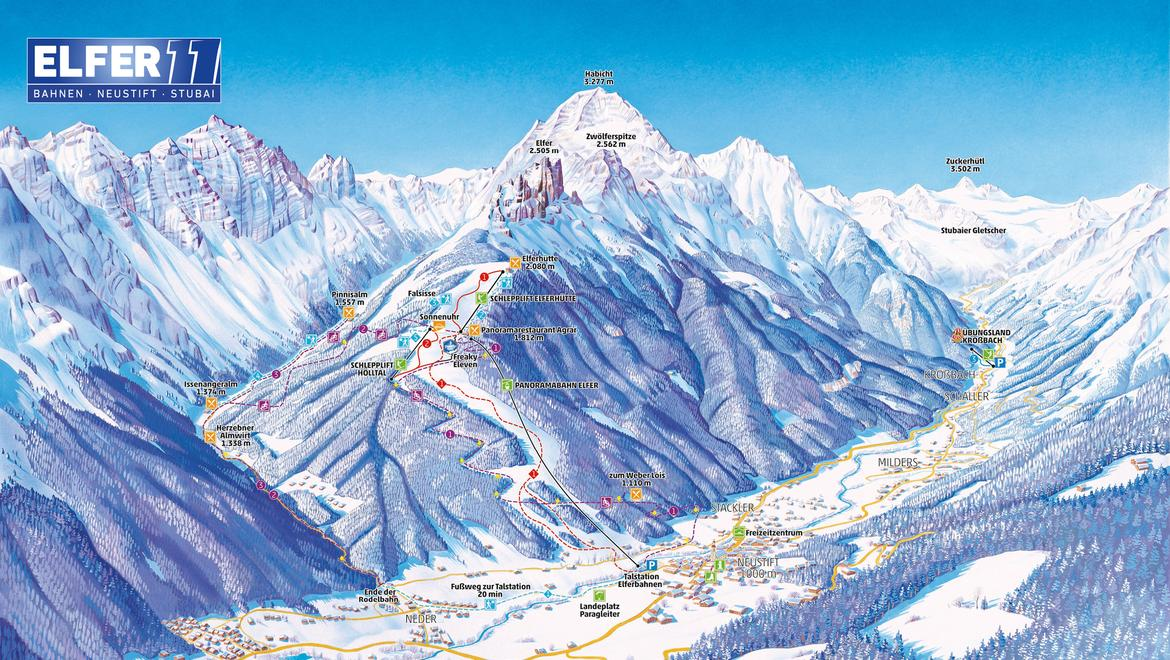 piste plan elfer ski area