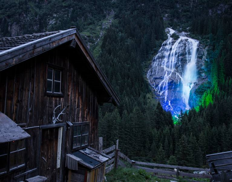 nature waterfall stubaital